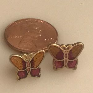 Butterfly Earrings Cloisonne